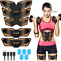 ABS Stimulator - Fitgym Newest Portable Muscle Trainer EMS Abdominal Toning Belt Muscle Toner for Men & Women Arm & Leg & abs Trainer,Home & Gym Fitness Equipment (USB Charging)