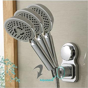 Gentil Adjustable Power Lock Shower Head Holder Wall Mount Shower Head Suction Cup  Hook