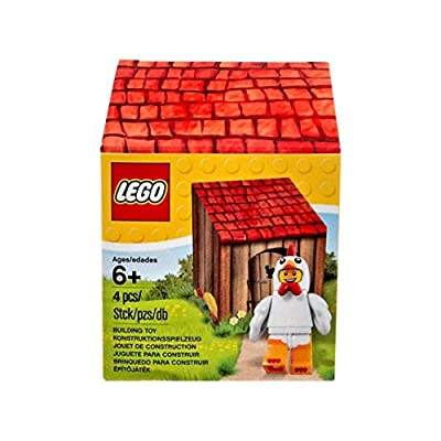 LEGO Chicken Suit Guy Minifigure with Coop: Toys & Games