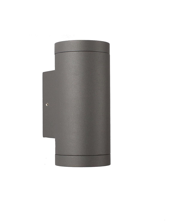 GU10 Außen Wandleuchte - Aluminium Anthrazit Doppelflutig für LED oder Halogen Leuchtmittel Up & Down light LED24.cc