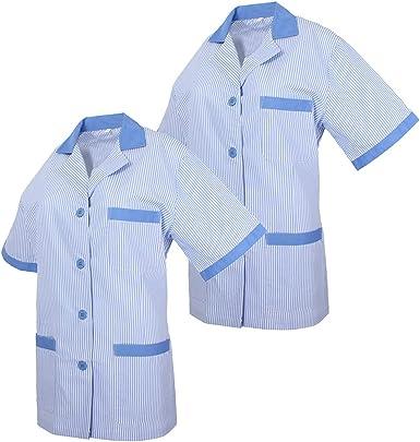 MISEMIYA - Pack*2-Camisa Camisetas Mujer Medica Mangas Cortas Uniforme Laboral Sanitarios Hospital Limpieza Ref.T820: Amazon.es: Ropa y accesorios