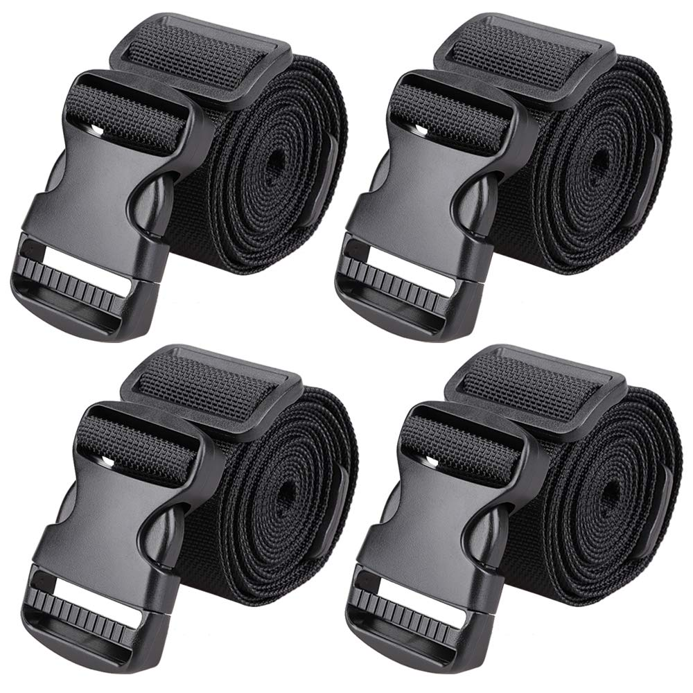 MAGARROW 65'' × 1.5'' Utility Straps with Buckle Adjustable, 4-Pack (Black (4-PCS)) by MAGARROW