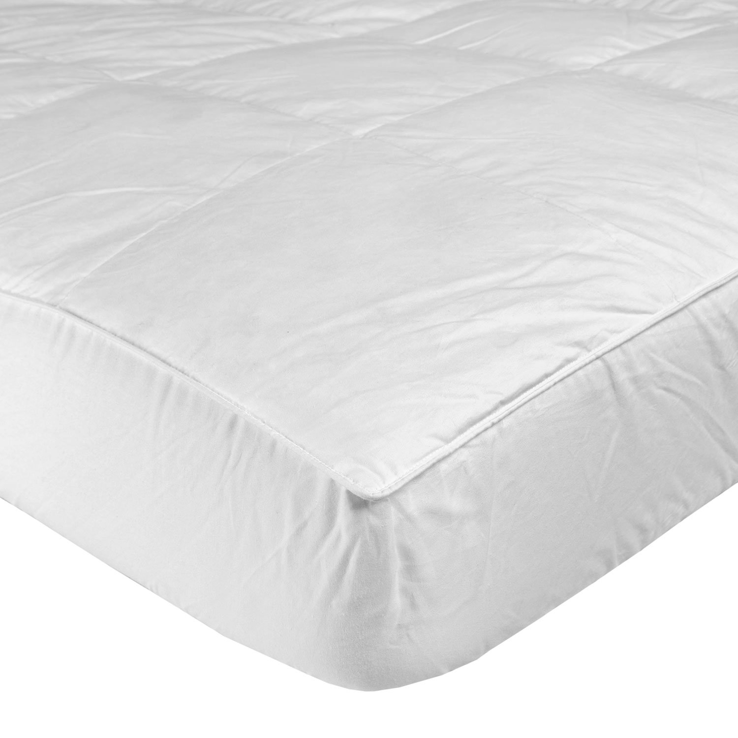 Homescapes Small Single 'Pure Indulgence' Mattress Topper, Hypoallergenic 100% Cotton Cover with 1200GSM Pearl Polyester Filling and Elasticated Straps, 79 x 190 cm (31