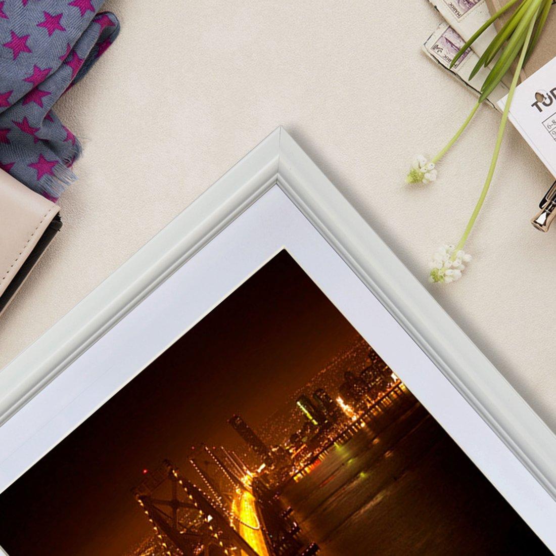 PETAFLOP Cornice Bianco per Foto 20x25 con Passepartout Set di 4