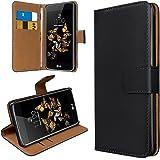 eFabrik Tasche für LG K8 Schutztasche Cover Wallet Etui schwarz