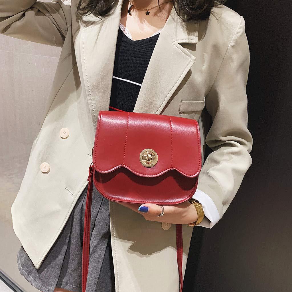 Makeupstory Handbags for Women,Backpack Purse Black,Women Lock Buckle Wild Cute Messenger Bag Shoulder Bag Small Square Bag by Makeupstory (Image #2)