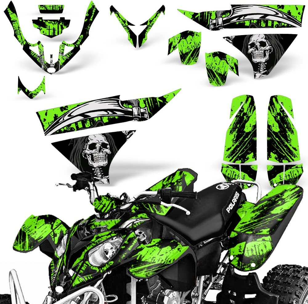 Reaper V2 Green Wholesale Decals ATV Graphics kit Sticker Decal Compatible with Polaris Predator 500 2003-2007