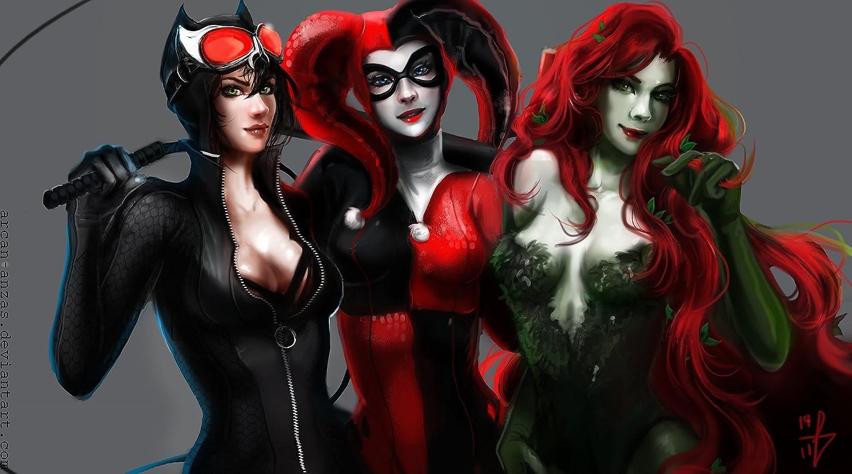 Posterhouzz Comics Gotham City Sirens Catwoman Harley Quinn Poison