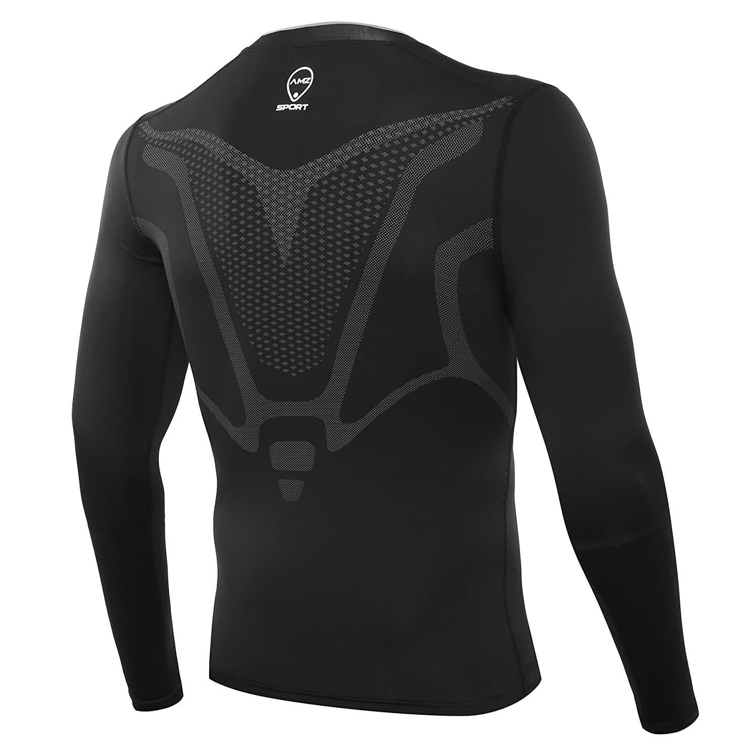 171f1188dc AMZSPORT Men's Long Sleeve Compression Top Cool Dry Tight Baselayer ALL  SEASON for Running Training