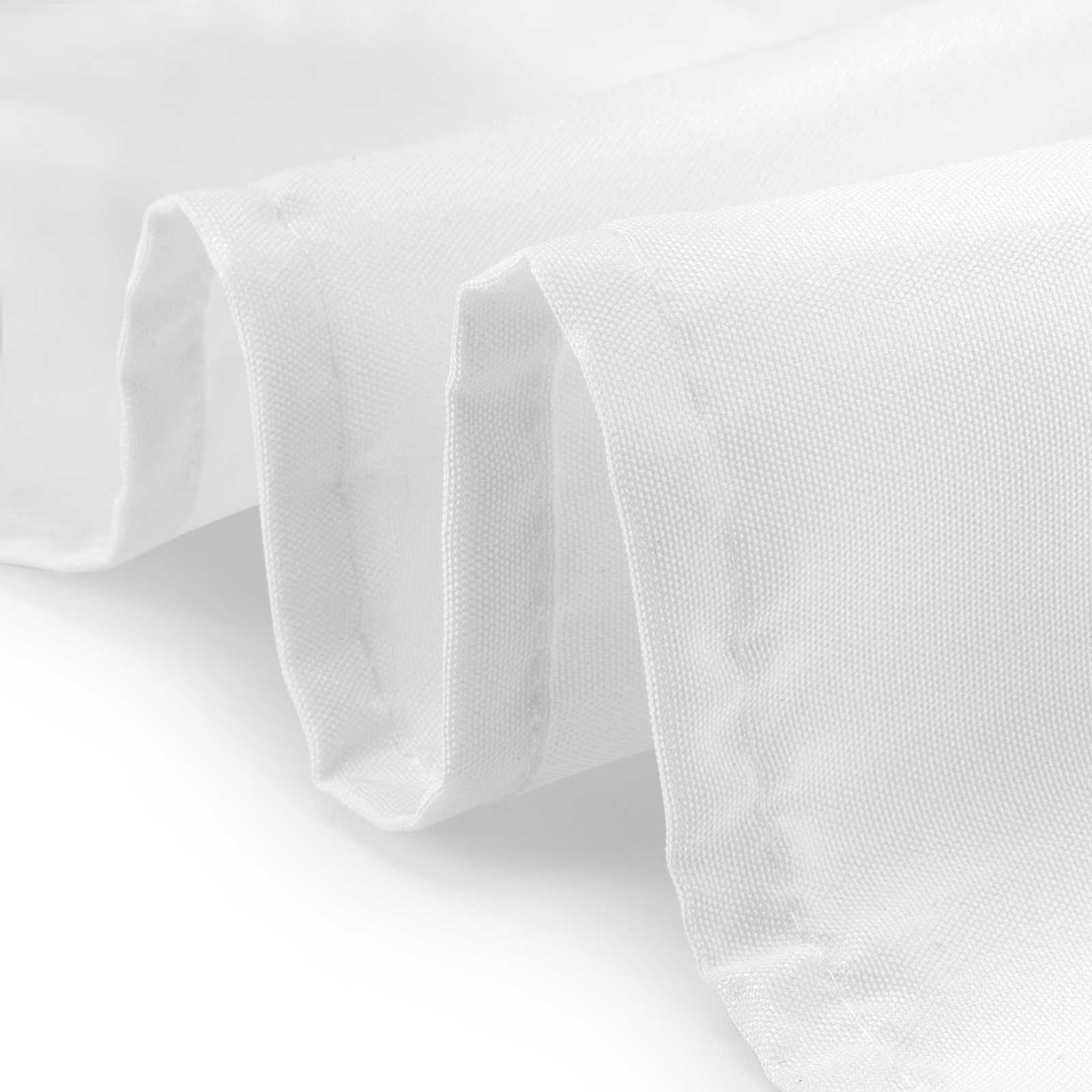 Lann's Linens - 20 Pack of 108'' Round White Polyester Tablecloth Covers for Weddings, Banquets, or Restaurants by Lanns Linens (Image #2)