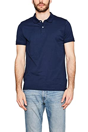ESPRIT Collection Men s 057EO2K004 Polo Shirt, Blue (Navy 400), XL ... 39e59270dd7a