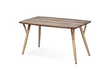 15908c5edabfb2 INTENSEDECO Table Style scandinave Mya Effet Chêne - 4 à 6 Personnes ...