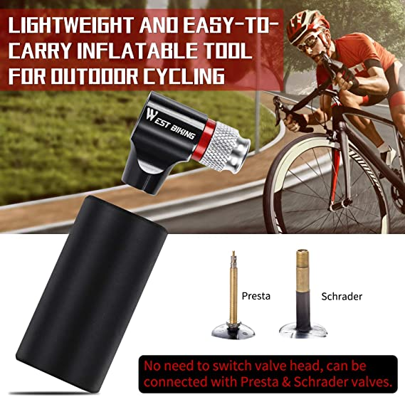 Hot Bike Tire Air CO2 Inflator Pump Valve Head Cycling Gear For Presta Schrader