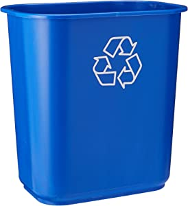 United Solutions EcoSense WB0070 Blue Thirteen Quart Recycling Indoor Wastebasket - 13QT Recycling Trash Can/Bin in Blue