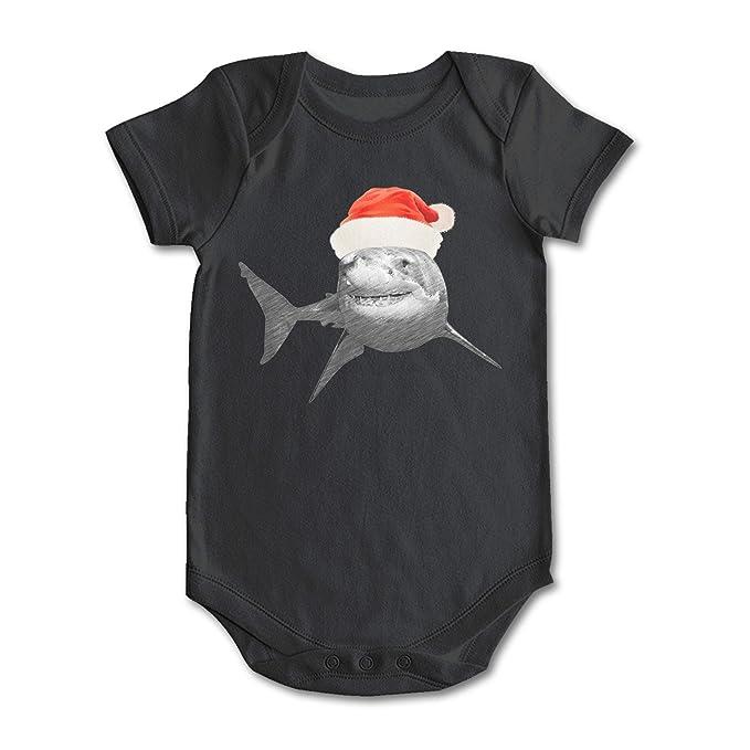 3946be651 Amazon.com  Trum Namii Unisex Baby Onesie Pajamas Cute Shark with ...