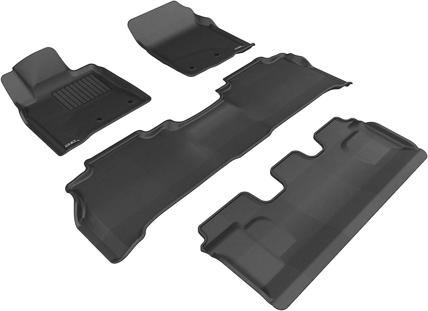 Tan Kagu Rubber 3D MAXpider Complete Set Custom Fit All-Weather Floor Mat for Select Lexus LX570 Models