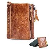 メンズ 本革 財布,La Ventus 二つ折り 柔らかい コインケース 免許証入れ カード入れ7ヶ所 丈夫 人気