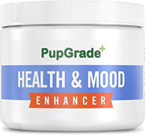 PupGrade Calming Organic Hemp Powder for Dogs - Natural Health & Mood Enhancer for Stress, Separation Anxiety, Storms, Hyperactivity & Barking - Mixes with Food (100 Servings)