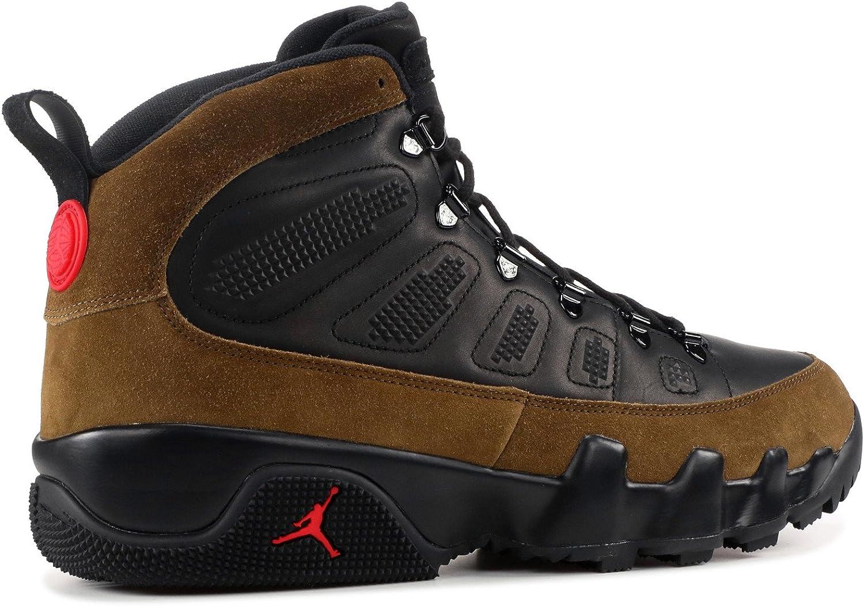 Jordan Mens Air 9 Retro Boot NRG 10 M US Black//True Red-Light Olive