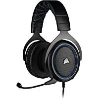 Corsair HS50 Pro - Stereo Gaming Headset - Works with PC, Mac, Xbox One, PS4, Nintendo Switch, iOS and Android - Blue