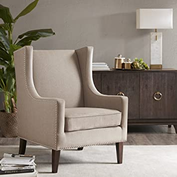 Madison Park Biltmore Wing Chair   Taupe   30.3Wx33.9Dx40.9Hu0026quot;