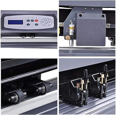 Yescom 28 « señal de cortador de vinilo Plotter Craft – Disco de corte w/signmaster Software de corte 3 cuchillas: Amazon.es: Oficina y papelería