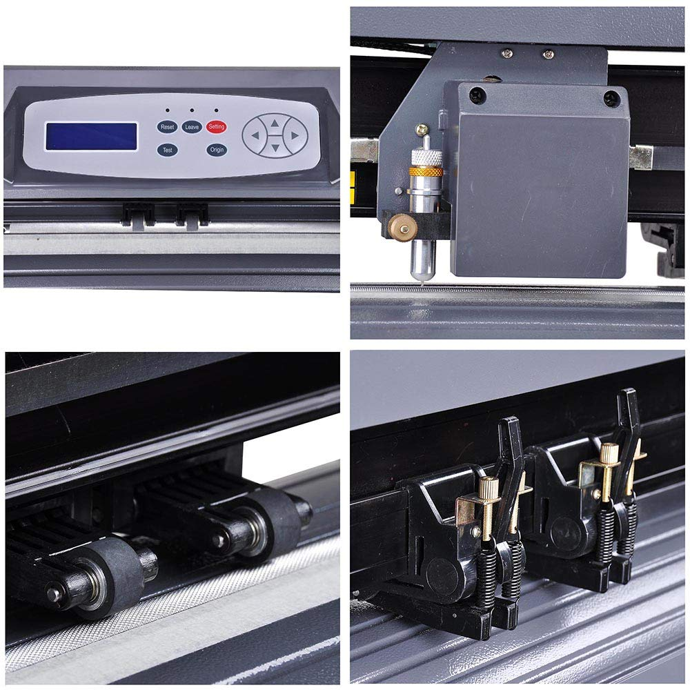 Cutting Plotter Vinyl Cutter Machine 28'' Adjustable Width with LCD Display USB Connection Auto Memory Digital Force Speed Rotating Blade Holder Stepper Motor US Delivery by ZeHuoGe (Image #5)