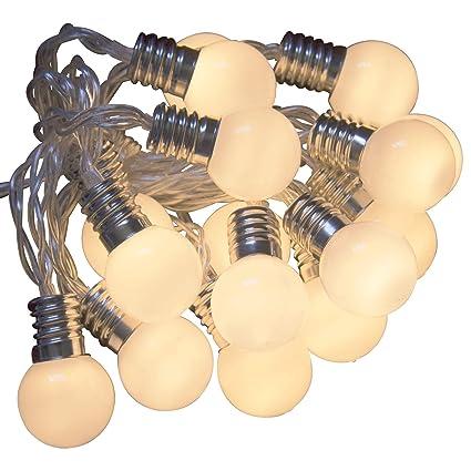 Mini guirnalda Féerique 16 bombillas LED blanco cálido Funcionamiento a pilas con temporizador