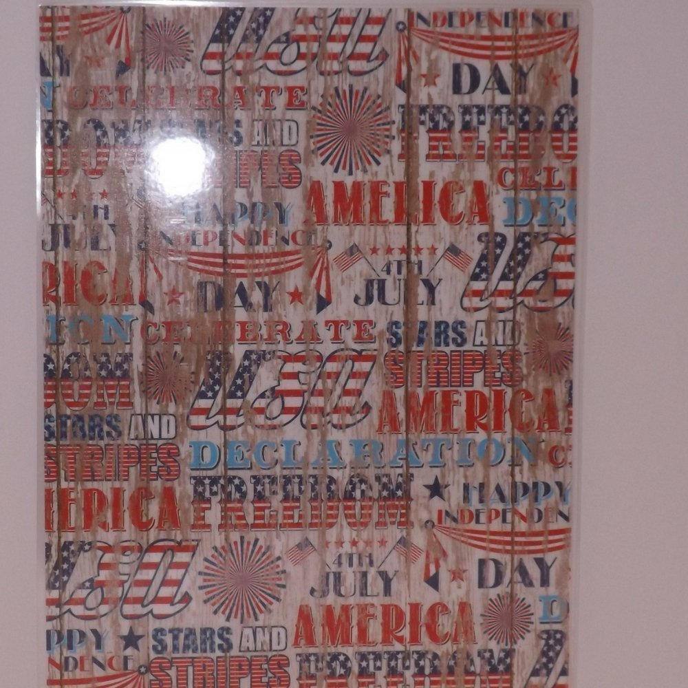 4th of July Solider Homecoming Celebration Patriotic Party Supplies Plates and Napkins Service for 16 with Bonus 8 x 11.5 Plege of Alligenace Keepsake Card and Flags by One Lanvender Lane (Image #7)