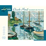 Claude Monet - Sailboats on the Seine 1000 Piece Jigsaw Puzzle 25 x 20in