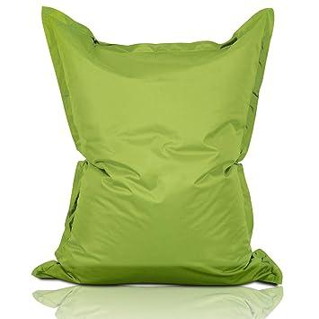 Lumaland Luxury Riesensitzsack XXL Sitzsack 380l Füllung 140 X 180 Cm  Indoor Outdoor Grün