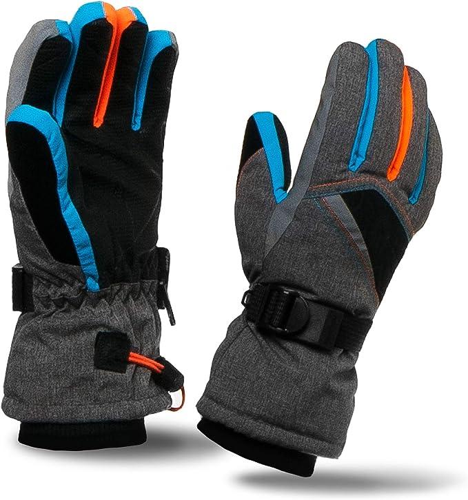 XTACER Jungen Ski-Schnee-Handschuhe