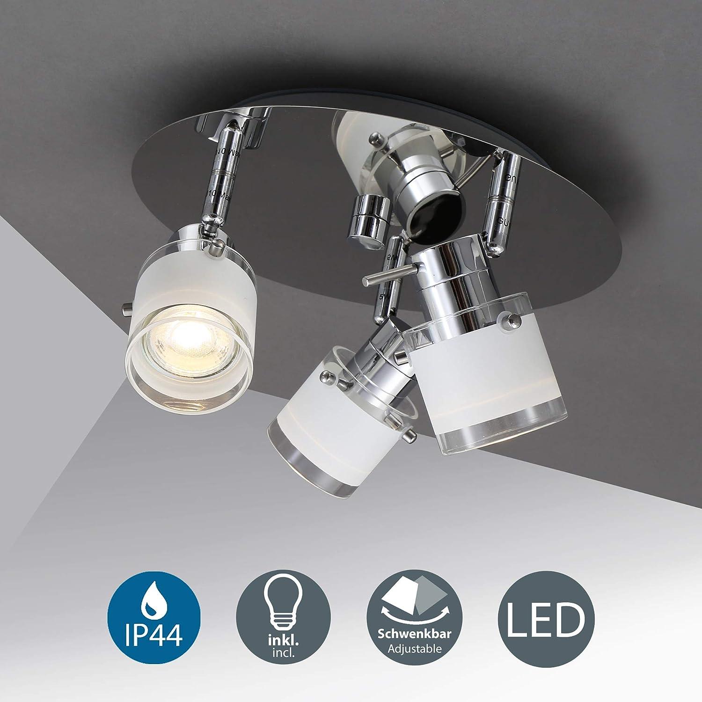 LED Badlampe Deckenlampe IP44 Strahler Badezimmer 3 flammig