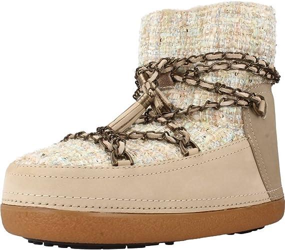 INUIKII Bottes Femme Argent: : Chaussures et Sacs