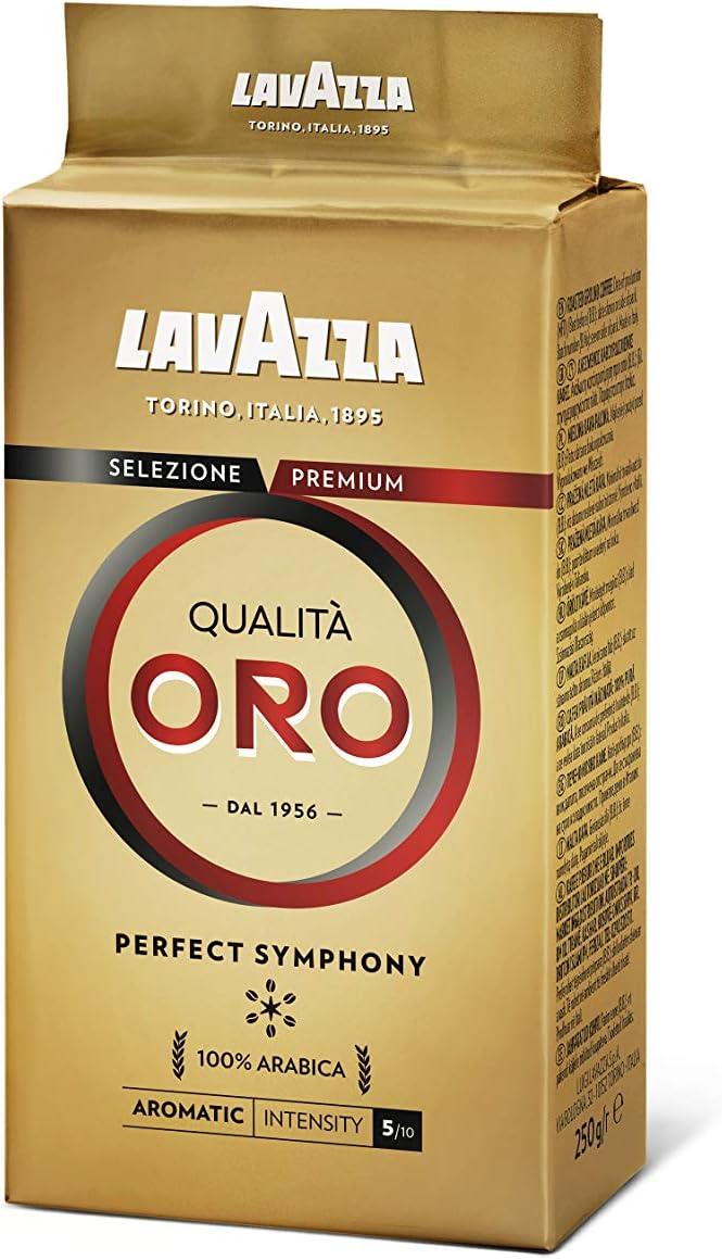 Lavazza Qualita Oro Caffe Café Molido (250g) (Paquete de 2 ...