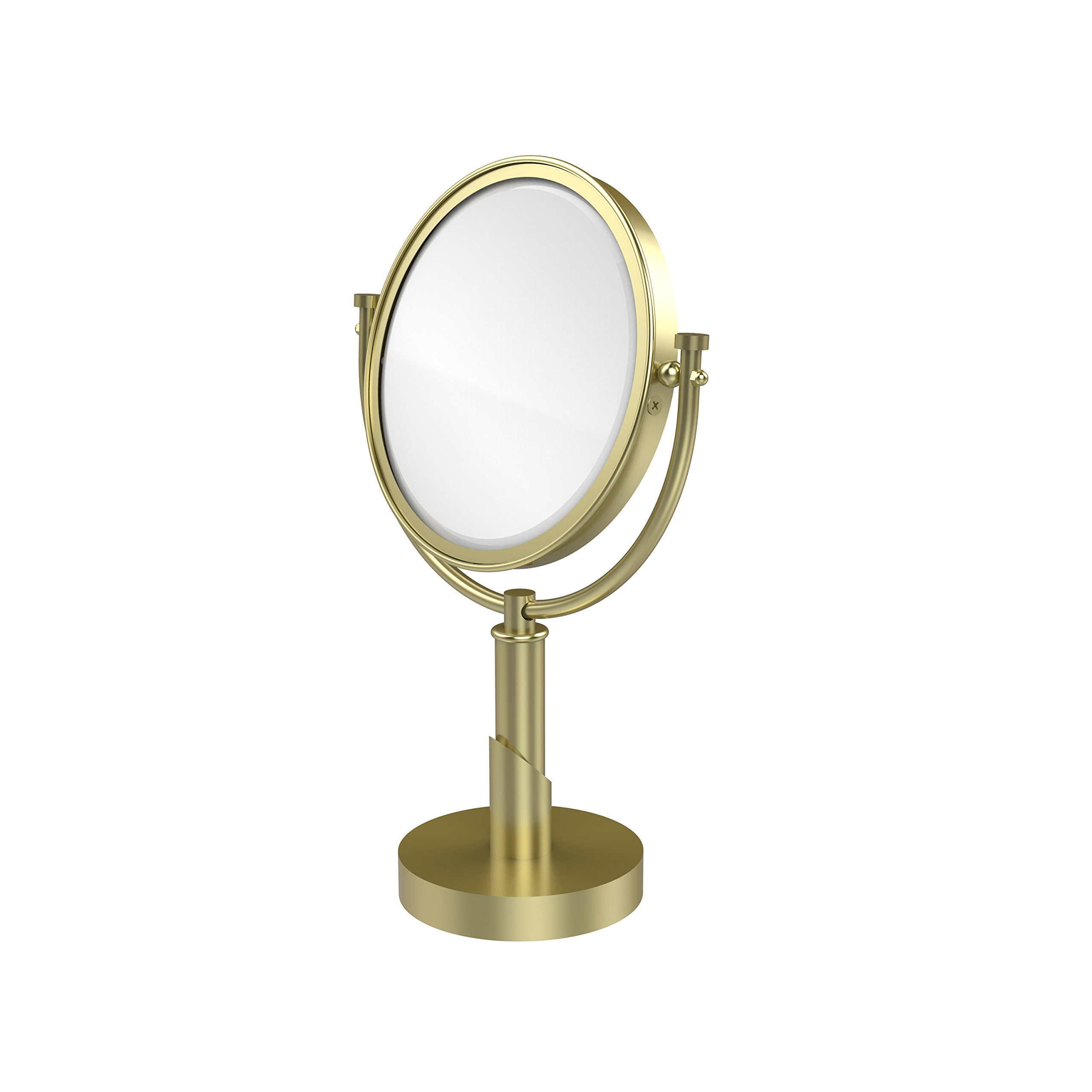 Allied Brass TR-4/2X-SBR Table Mirror with 2X Magnification, Satin Brass