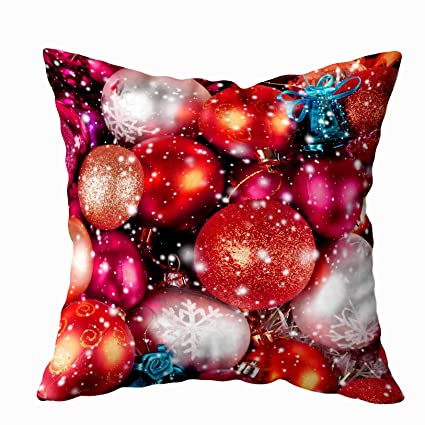Anucky Body Pillow Case with Zipper, Christmas Background