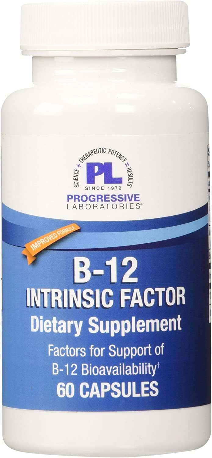 Progressive Labs B-12 Intrinsic Factor Supplement, 60 Count