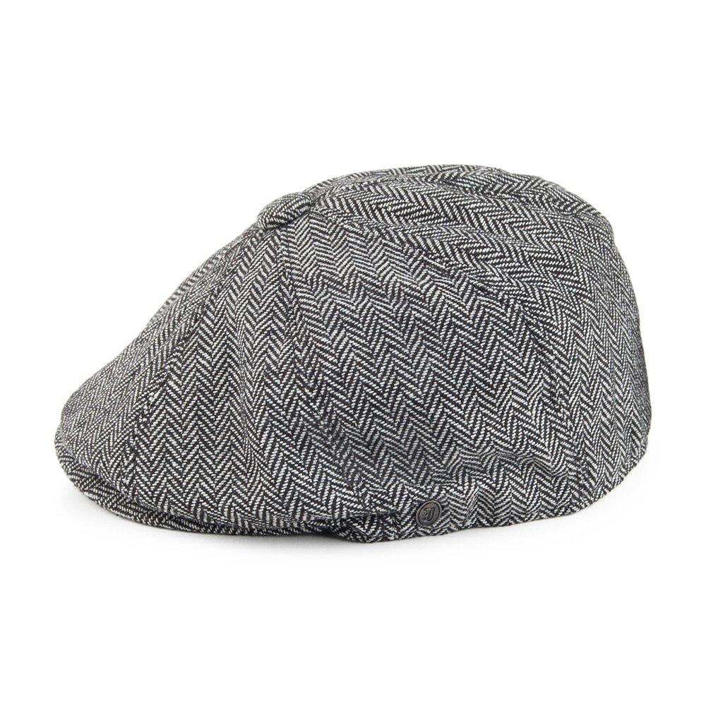 ad3e020d Jaxon & James Herringbone Newsboy Cap - Grey: Amazon.co.uk: Clothing