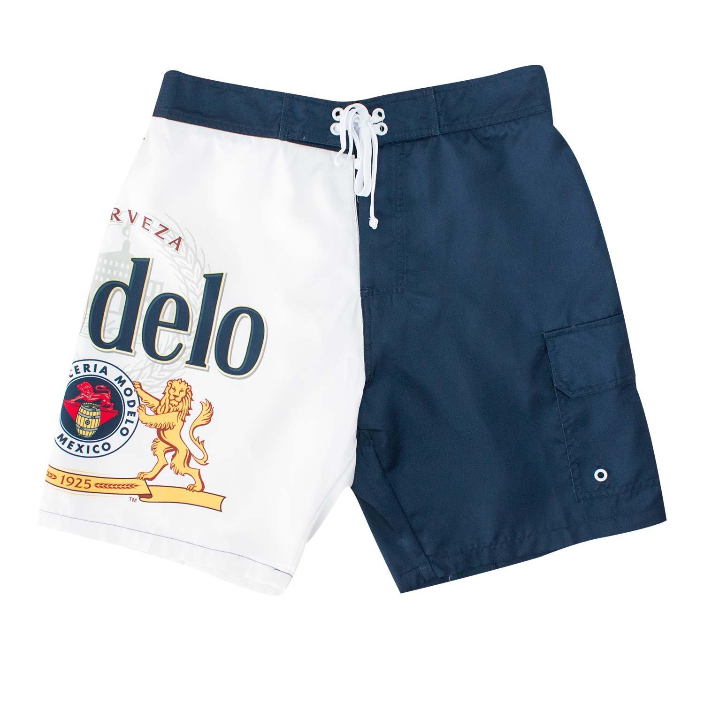 Modelo Bottle Label Mens Board Shorts