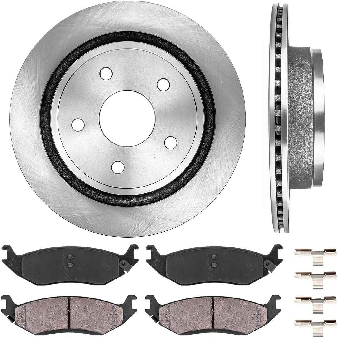 2007 2008 Acura TL Non Type-S Model OE Replacement Rotors w//Ceramic Pads F+R