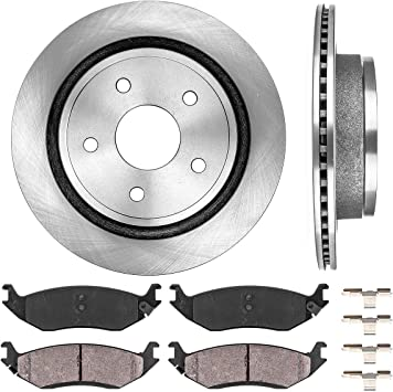 2005 2006 2007 for Dodge Ram 1500 Front /& Rear Brake Rotors and Pads 5-Lug Whls