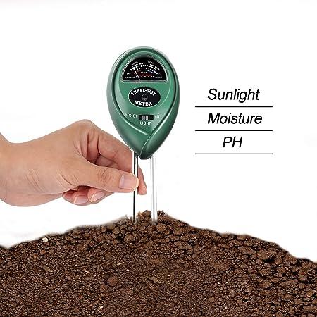 UMSKY Medidor de Humedad Plantas Multifuncional Kit de Test Para Acidez de Suelos Tierra, Para Medir el PH y la Humedad, Para Casa y Jardín: Amazon.es: Hogar