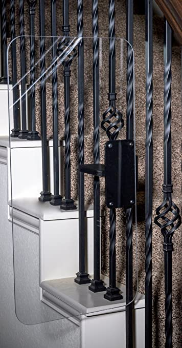Stair Shield   ( 6u0026quot; Size For Metal Rails)   Keeps Kids From Climbing