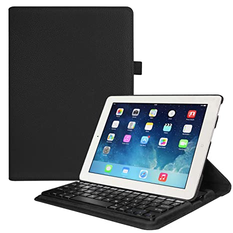amazon com fintie ipad 4 3 2 keyboard case multiple angles standfintie ipad 4 3 2 keyboard case multiple angles stand cover with built