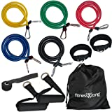 RESISTANCE BANDS Set For Yoga Abs Pilates Fitness Exercise Workout 11 Pieces fitnessXzone®