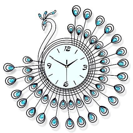 Buy MrAk Homedecor Luxury Large Peacock Metal Wall Clocks Diamond