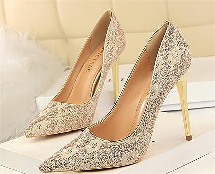 17db39d765b9c Amazon.com: LUCKY CLOVER-CC Court Heel High Heels Sandals Women ...