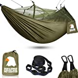 covacure Camping Hammock with Net - Lightweight Double Hammock, Portable Hammocks for Indoor, Outdoor, Hiking, Camping, Backp