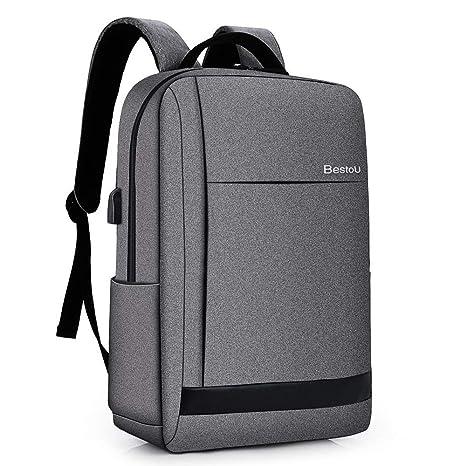 39fb03c1e1 BestoU Zaino Porta Computer 15.6 Pollici antifurto Zaino per pc Backpack  Laptop Impermeabile con USB (